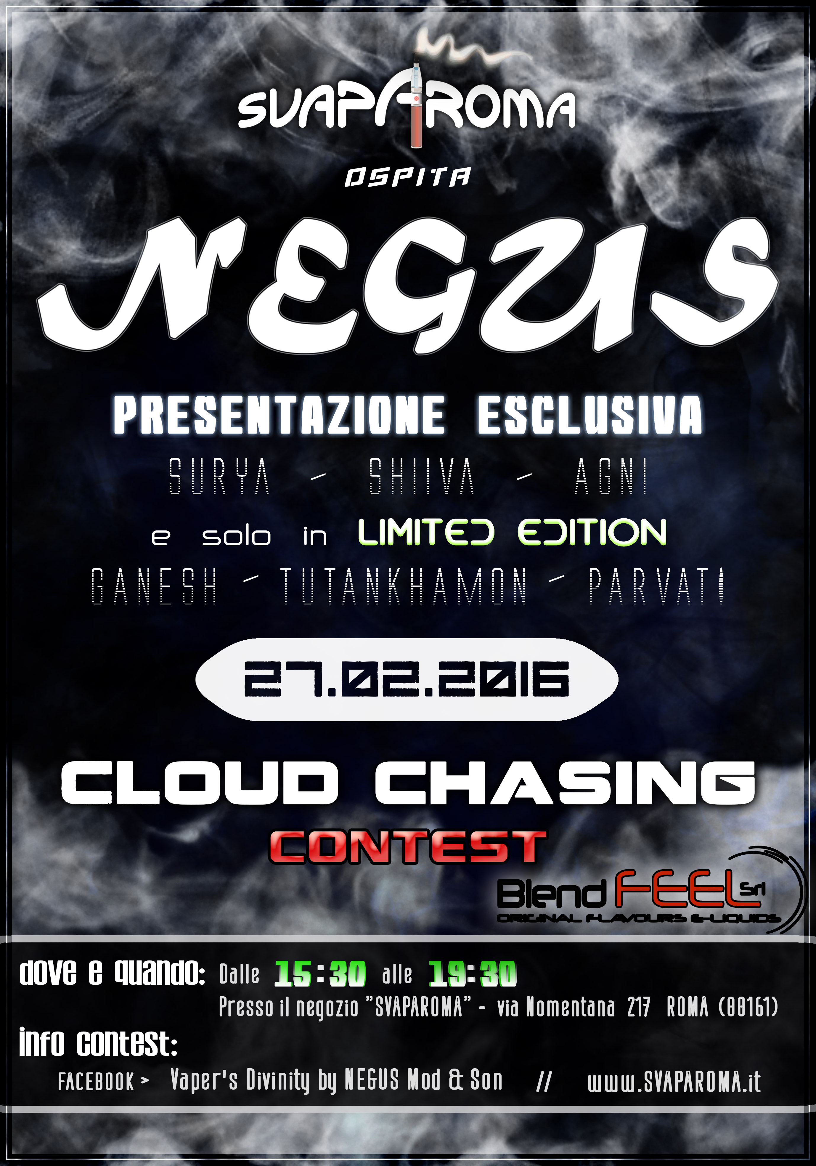 Negus Roma Cloud Chasing Contest